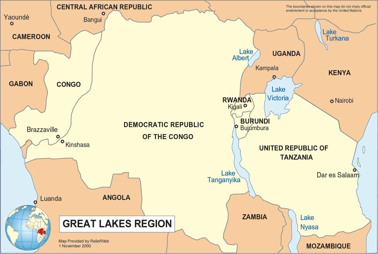 BURUNDI COLOUR REVOLUTION VIA RWANDA African Agenda A New - Where is burundi on a world map