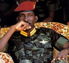 Thomas Sankara, the charismatic and pan-Africanist Burkinabe leader.