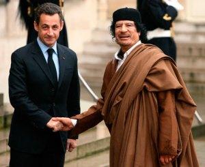 Sarkozy and Kaddafi