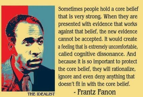 What Frantz Fanon says here applies to the attitude of the Rwandan government each time they are confronted with irrefutable evidence.