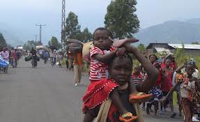 Congolese populations fleeing fighting in Goma area.