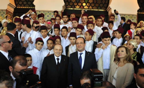 Abelaziz Bouteflika and Francois Holland