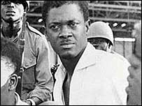 Patrice Lumumba. He was among the participants of the All African Peoples' Conference held in Accra in 1958 and organised by Nkwame Nkrumah.