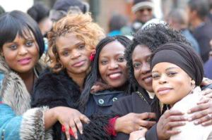 Congolese women activists at a protest organised in Paris on March 23rd, 2013