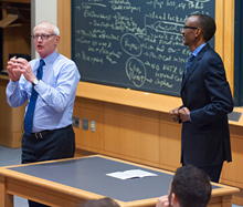 Paul Kagame and Professor Michael Porter of Harvard University - photo/Jimmy Ushkurnis