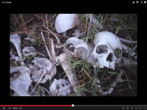 Since the 80s the Great Lakes region has experienced genocides, war crimes, crimes against humanity, so much so that the entire area has become like a cemetery with dead on display. There are human skeletons everywhere, some more respected than others. Picture courtesy of Keith Harmon Snow
