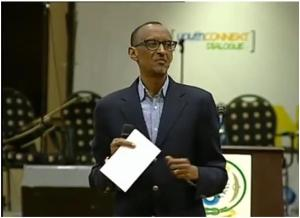 The Rwandan president Paul Kagame during his speech of June 30th, 2013 before the Rwandan youth, during which he asked all Hutus, especially the Hutu youth, to apologize for the genocide committed by their parents and relatives. But will his Tutsi peers apologize for the genocide committed against Hutu since October 1st, 1990, this inside Rwanda, and then inside the Democratic Republic of Congo?