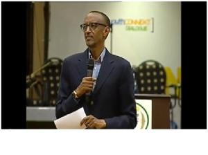 Paul Kagame addressing the Youth Connekt dialogue on 30/06/2013 at the Serena Hotel in Kigali where he asked all young Hutu to ask forgiveness to Tutsi for the crimes of their parents. This is occurring after that more than 1.3 million of Gacaca cases have condemned concerned Hutu families to a life of second category citizens, without access to property, education or employment.