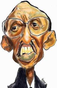 Rwandan President Paul Kagame by an inspired artist