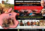 Manifestation in Paris to denounce the ongoing Congolese genocide.