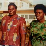 Former Rwandan president Juvenal and one of his daughters Jeanne Marie Aimee