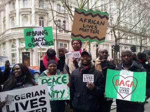 Picture by Amma Fosuah Poku - London protest held on 25/01/15 against Boko Haram in Nigeria.