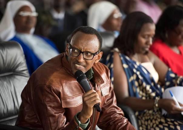 Kagame in bulletproof coat in Rwanda